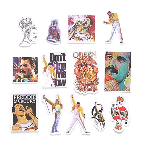 13pcs Freddie Mercury Scrapbooking Decals DIY Creative Badges DIY Decorative Stickers Vintage Notebook Phone