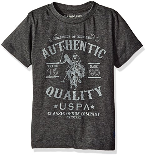 U.S. Polo Assn. Boys Short Sleeve Crew Neck Half Burnout Graphic T-Shirt