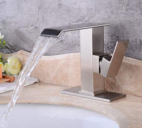Waschtischarmaturen  Gebürstetem Waschbecken Wasserhahn Bad Kupfer Wasserhahn Unter Zähler Becken Heiß Und Kalt Wasserhahn Waschbecken Retro Wasserhahn