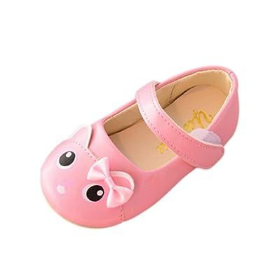 4942faf8db2d9 GongzhuMM Sandales Bébé Fille 21-25 Été Chaussures Fille Cartoon Ballerines  Cuir Chaussures de