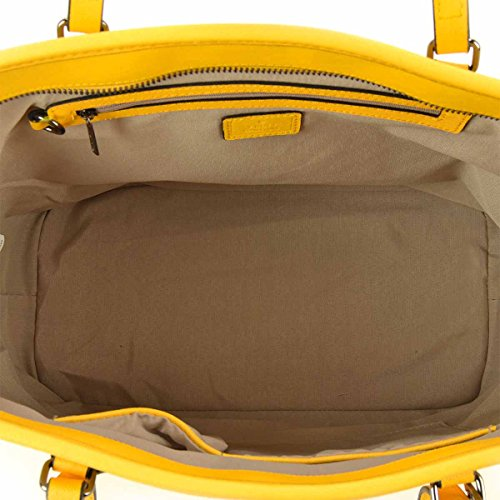 Borsa donna Shopping Y Not in Pelle Colore Giallo - 797