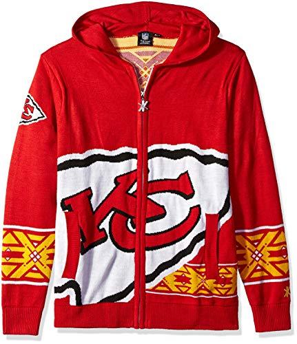 (Kansas City Chiefs Full Zip Hooded Sweater Medium)