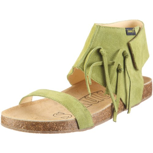 Jonny's Clara 0968 - Sandalias de vestir de ante para mujer Verde