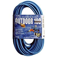 Coleman Cable 02469 14/3 100-Foot SJTW Low-Temp Outdoor Extension Cord with Lighted End