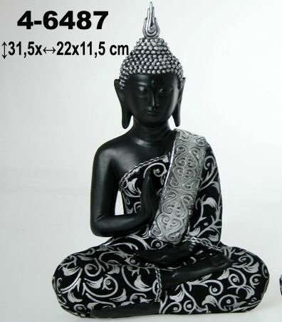DONREGALOWEB Figura de Resina de Buda en Color Negro con ...