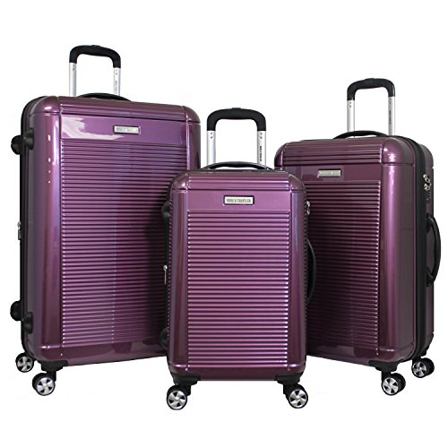 World Traveler Regal 3-Piece Hardside Lightweight Spinner Luggage Set, Purple by World Traveler