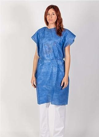 20023-Bata protección desechable médica para: clínicas - laboratorios - esteticien - alimentación -