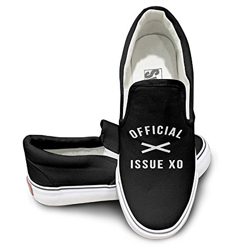 MGTER66 The Weeknd Official Issue Fashion Canvas Shoes Slip On Unisex Style Color Black Size 37 (Starbucks Coffee Costume)