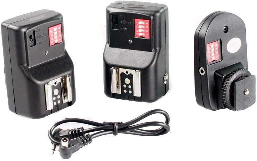 RONSHIN Newest Universal 16 Channels Radio Wireless Remote Speedlite Flash Trigger for Flashe Speedlite 1 to 2