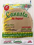 Canasta Uncooked Flour Tortillas, Original Lard Base (2 Packs, 1 Dozen Per Pack)