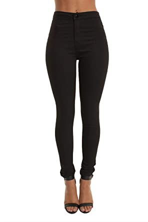 1f5e636d51a5e momokrom New Ladies High Waisted Super Skinny Stretchy Ankle Tube Jeans  Jeggings UK Size 6-16: Amazon.co.uk: Clothing