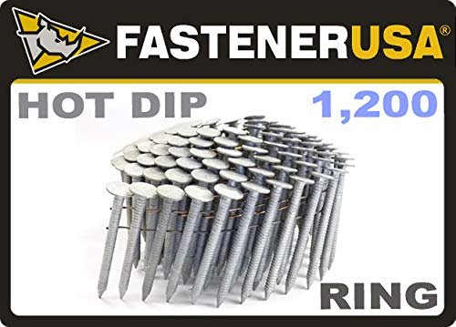 1 3/4'' Ring A153-D HOT DIP Coil Roofing Nails 1.2M RoofPak by FastenerUSA
