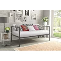 DHP Modern Tribeca Sturdy Metal Frame Twin Size Contemporary Design Daybed Use as a Bed or Extra seating - Gunmetal Gray