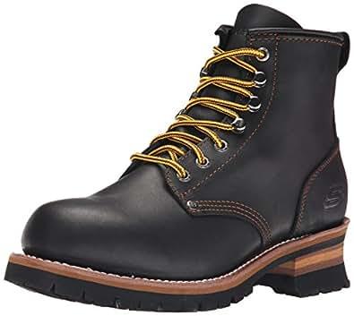 Amazon.com   Skechers USA Men's Cascades Logger Boot   Boots