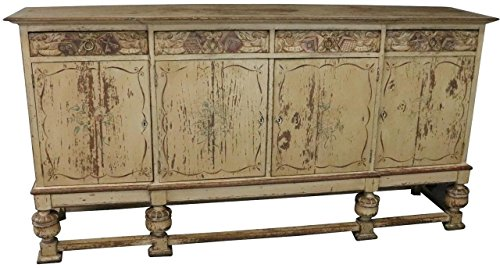 French Country Sideboard - EuroLux Home Sideboard French Country Farmhouse Antique 1900 Oak Wood Distressed Painted