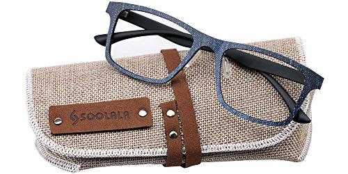 45ed5c3bc401c SOOLALA Lightweight Wayfarer Eyeglass Reading product image