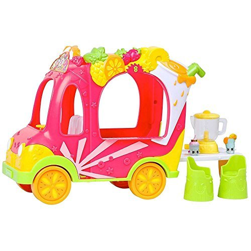 NEW Shopkins Shoppies Smoothie Juice Truck Vehicle Ride w/Figures Moose CHOP by Unbranded