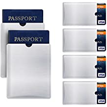 RFID Blocking Sleeve Anti Theft 4 Credit Card & 2 Passport Holder Wallet Pocket