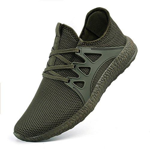de ZOCAVIA Verde Transpirable Casuales Mujer Malla Zapatillas de Unisex Ligeras Deportivas Zapatos BxBgq0r6