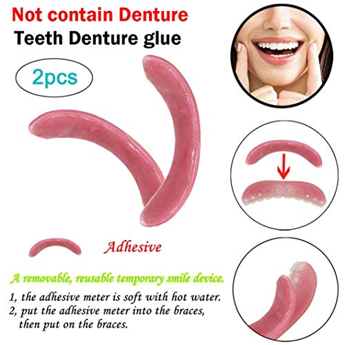 Loneflash Teeth Denture Glue,Cosmetic Teeth Smiles Now Fit