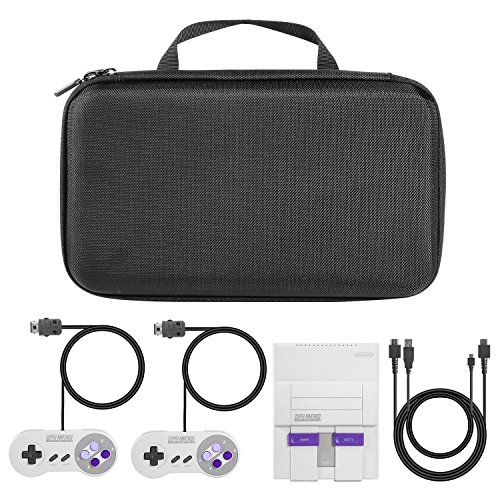 iAmer Carrying Case for SNES Classic Mini Edition Hard Travel Case