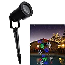 B-right Moving Christmas Snowflake Projector Lights, 6 LEDs, Landscape Projector Light for Indoor/Outdoor, Wall Decoration, Party Light, Christmas Light