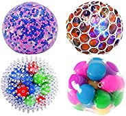 4pcs/8pcs Stress Balls for Kids and Adults, Water Beads Stress Relief Squeezing Balls, Sensory Balls Toy Squis