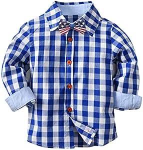 JXSHQS Camisa De Manga Larga A Cuadros For Niños Nuevos Camisas De Otoño E Invierno Ropa Infantil Europea Y Americana Camisa de los niños (Color : Blue, Size : 80cm): Amazon.es: Hogar