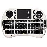 Mini Wireless Tastiera,ELEGIANT 2.4 GHz Tastiera Senza Fili Touchpad del Mouse per Android Smart TV Box, Media Box , Desktop, Laptop,Mini PC, TV per Auto, HTPC, TV con Grande Schermo, Smart TV ,PI PS3-Bianco