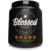 BLESSED Plant Based Protein Powder – 23 Grams, All Natural Vegan Friendly Pea Protein Powder, Gluten Free, Dairy Free…