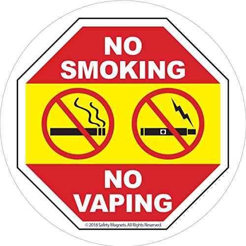 No Smoking Stickers for Vehicles - No Vaping Window Signs for Business - Inside Window Application - Easy to Remove and Reposition