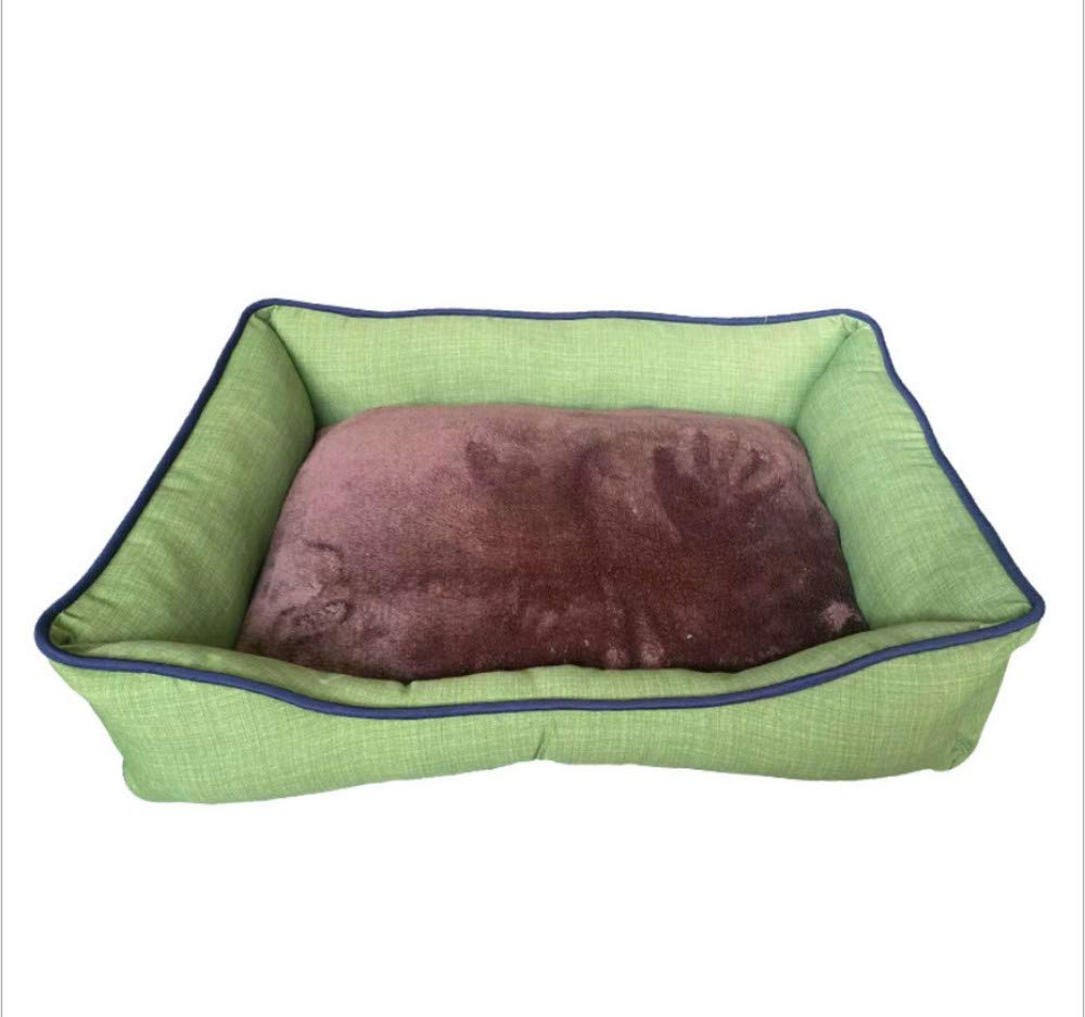 C 58X48X15CM C 58X48X15CM GZDXHN Dog House Four Seasons Universal Kennel Outdoor Two-Sided Flip Removable Kennel Waterproof Fabric Solid color Kennel Pet Nest Cat Nest P