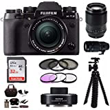 Fujifilm X-T2 Mirrorless Digital Camera w/ 18-55mm +90MM+100-400+XF1.4X TC+32G
