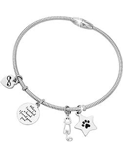 Amazon.com: Olbye Cat Bracelet Black Hemp Bracelet ...