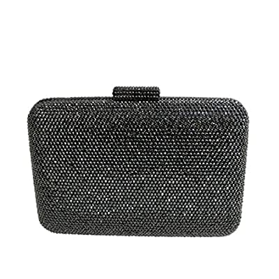 DMIX Womens Large Crystal Clutch for Wedding Bridal Party Prom Evening Bag