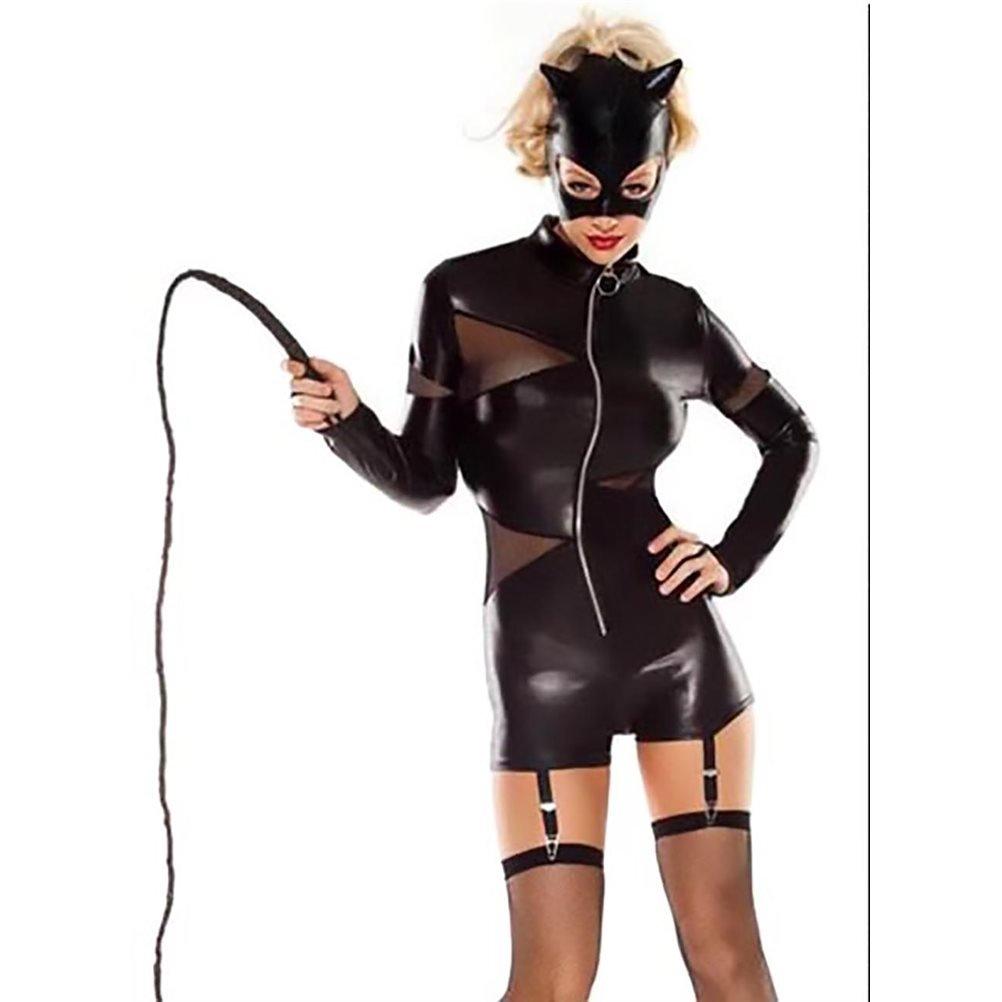Amazon.com: Disfraz sexy estilo corto Catwoman, talla única ...
