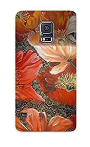 Durable Case For The Galaxy S5 - Eco-friendly Retail Packaging(poppy Flowers )