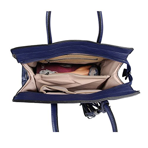 Dunkelblau Businesstasche OBC HENKELTASCHE HANDTASCHE Workbag Umhängetasche DAMEN TASCHE Schultertasche Shopper xznrazR