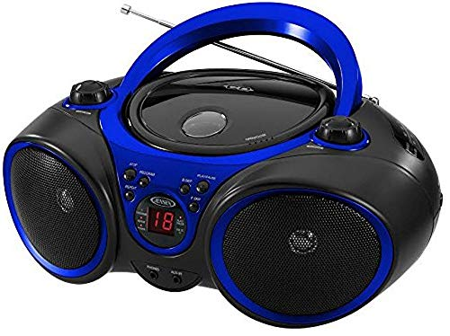 le Sport Stereo CD Player with AM/FM Radio and Aux Line-in & Headphone Jack (Blue) ()
