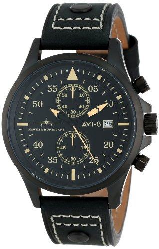 AVI-8 Men's AV-4013-04 Hawker Hurricane Analog Japanese-Quartz Black Watch