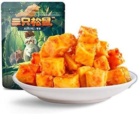 三只松鼠 麻辣味牛板筋 中国名物 おつまみ 大人気 休闲零食小吃牛肉粒牛肉干 120g/袋