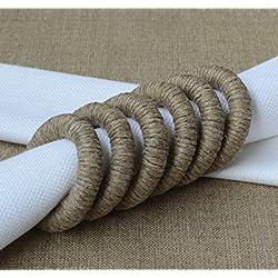 Natural Eco Friendly Jute Napkin Rings Set of 6