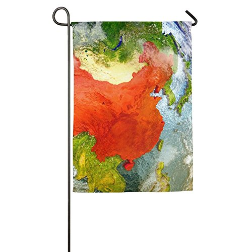 Davis Relev 12.5 x 18 inch Model of China from Earth S Orbit in Space D Illustration with Highly Detailed Realistic Planet Family Garden House Home Demonstration Game Flag