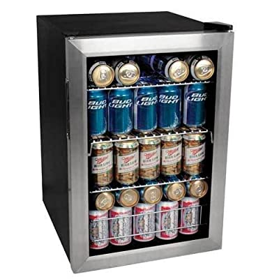 EdgeStar BWC90SS 84 Soda Can Beverage Cooler - Stainless Steel