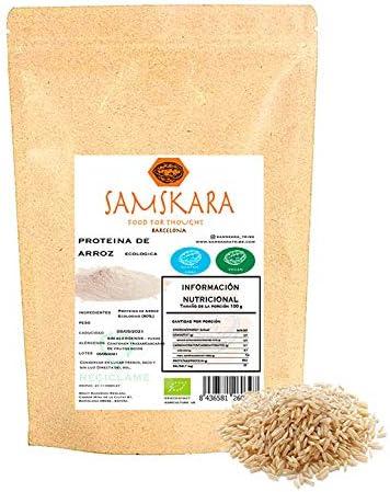 Proteina de Arroz (80%) en Polvo | Ecológico Bio | de agricultura Europea calidad | SAMSKARA | EU Agriculture Organic Bio Rice Protein Powder (80%) ...