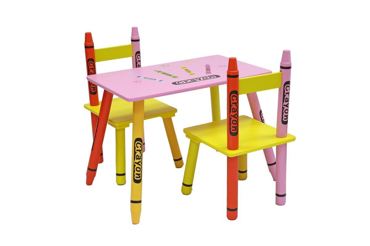 Kiddi Style Kindersitzgruppe 1x Kindertisch /& 2x Kinderstuhl stylische Sitzgruppe /& Kindersitzgruppe mit Tisch /& St/ühlen f/ür Kinder
