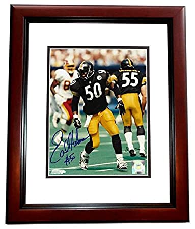 78c8f8c9208 Earl Holmes Signed - Autographed Pittsburgh Steelers 8x10 inch Photo  MAHOGANY CUSTOM FRAME - Guaranteed to
