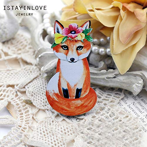 Laliva Handmade Jewelry Making Supplies Beads Laser Cut Wooden Animal Charm Flower Cat for DIY Necklace Earring Brooch CW096 2