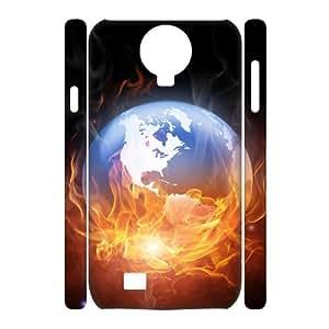SamSung Galaxy S4 I9500 Earth 3D Art Print Design Phone Back Case Customized Hard Shell Protection LK019417