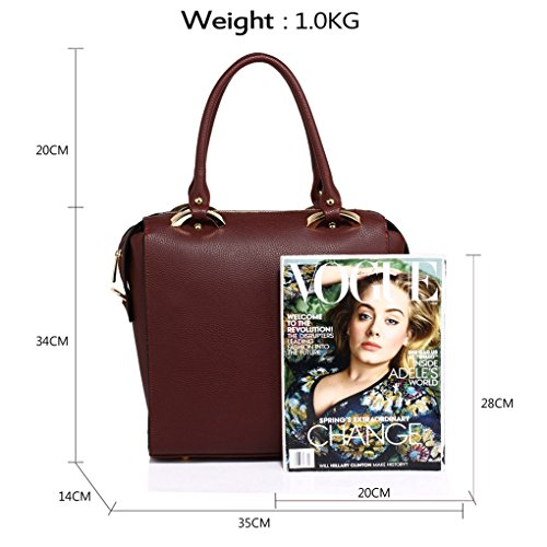 Bags Baggage Bags Handbags NUDE BURGUNDY Cross Weekend Faux Women Holiday LeahWard Gym For Body Shopping Leather Tote Women's Shoulder Travel wTcqaRA